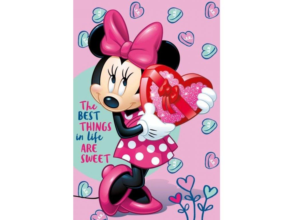 Fleece deka Minnie pink 100/150