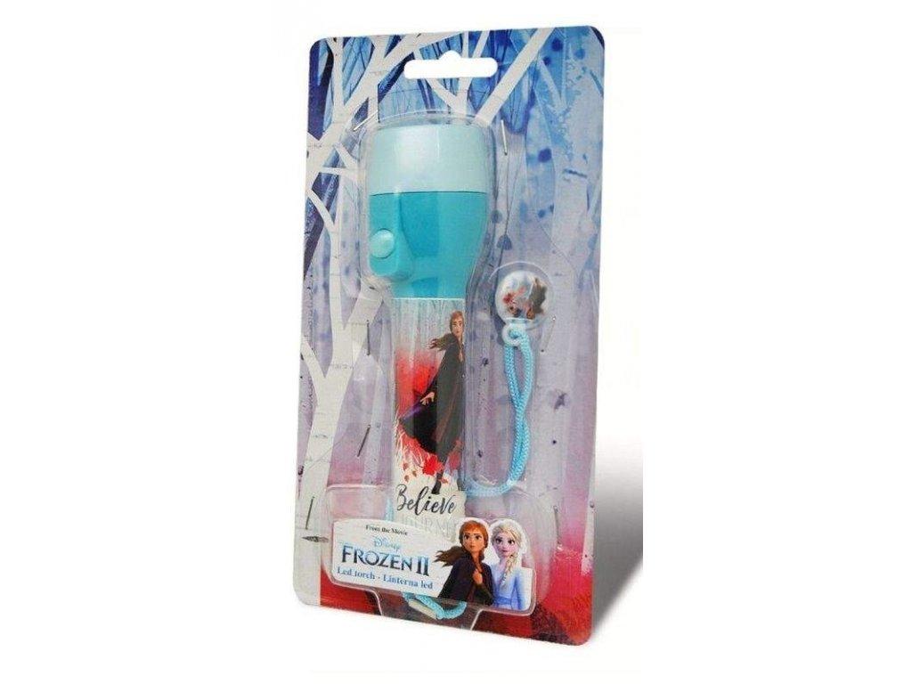 Dětská LED svítilna, baterka Ledové Království 2