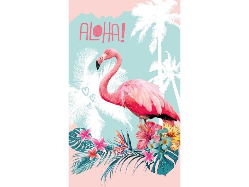 Dětský ručník Plameňák Aloha 50/30