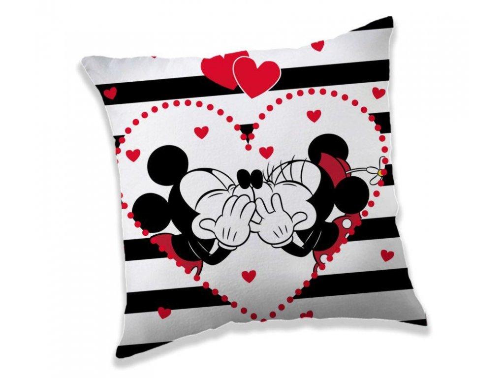 Polštářek Mickey a Minnie stripes 40/40