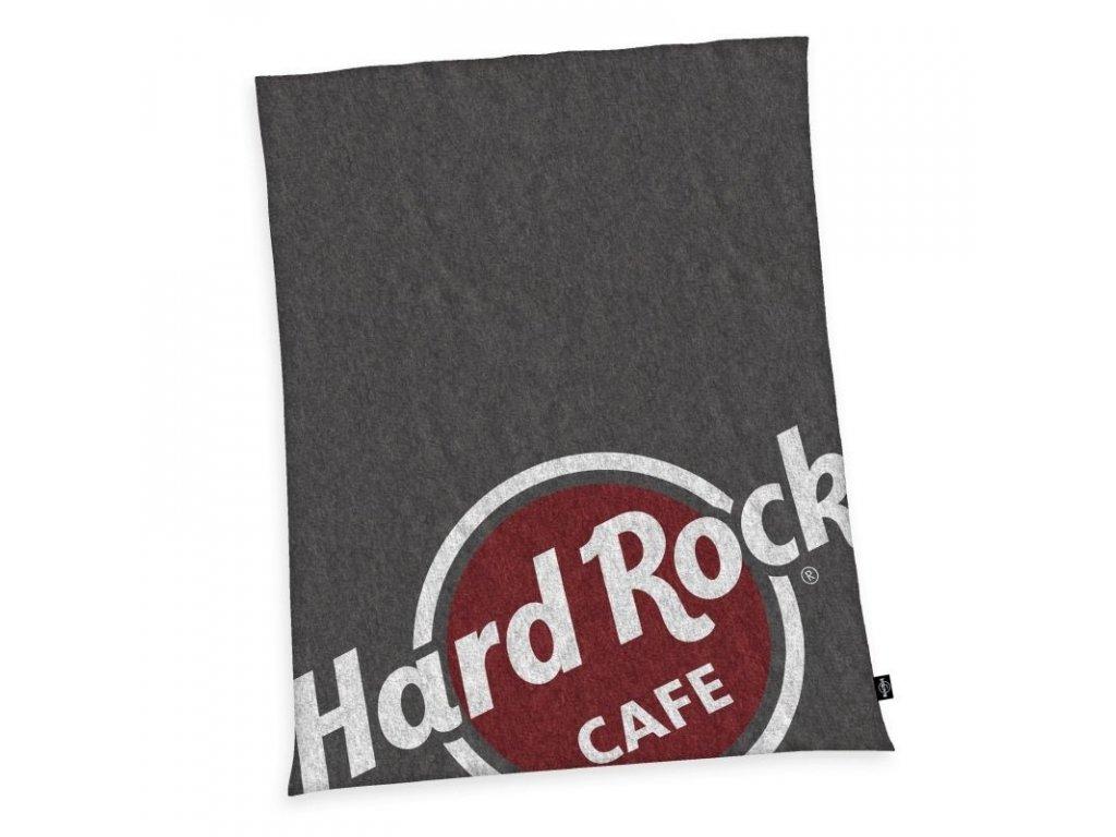 HERDING Micropolar fleece deka Hard Rock Cafe Polyester, 150/200 cm