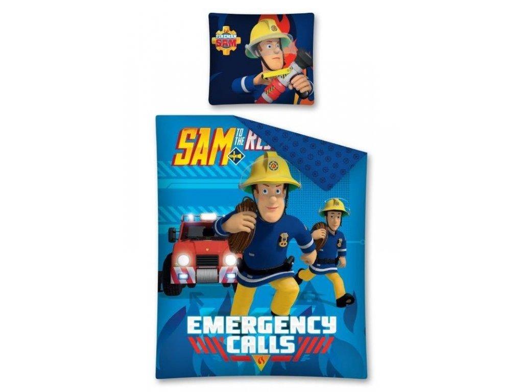 DETEXPOL Povlečení Požárník Sam Emergency Bavlna, 140/200, 70/80 cm