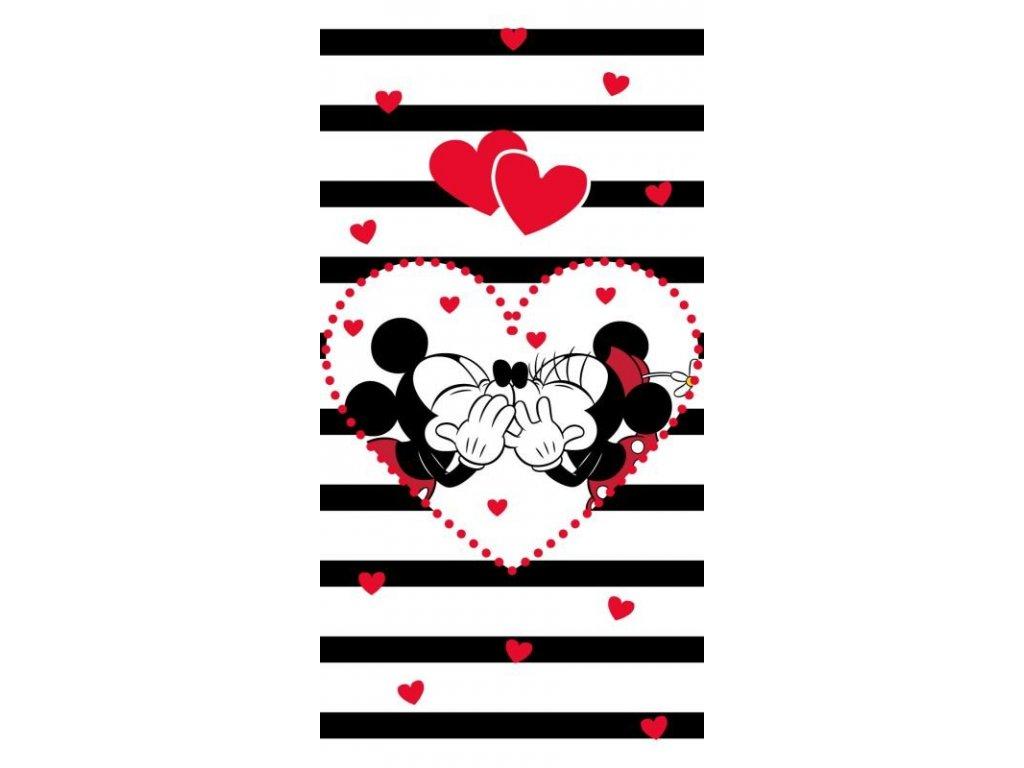 Osuška Mickey Minnie stripes 70/140