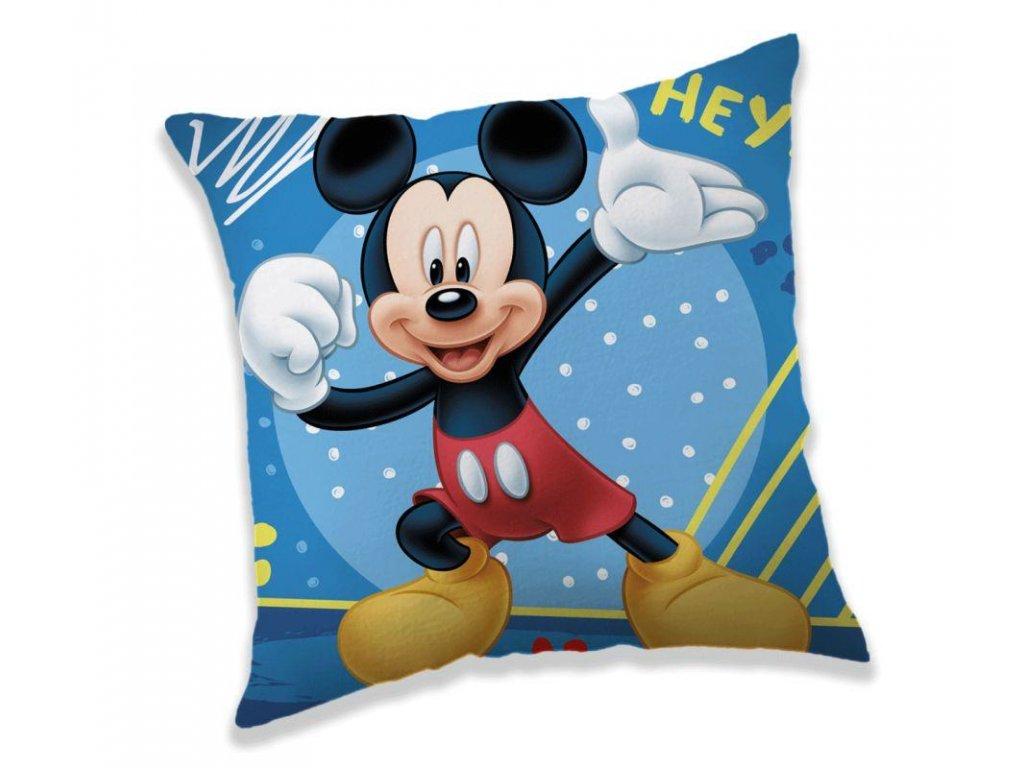 JERRY FABRICS Polštářek Mickey Hey Polyester, 40/40 cm