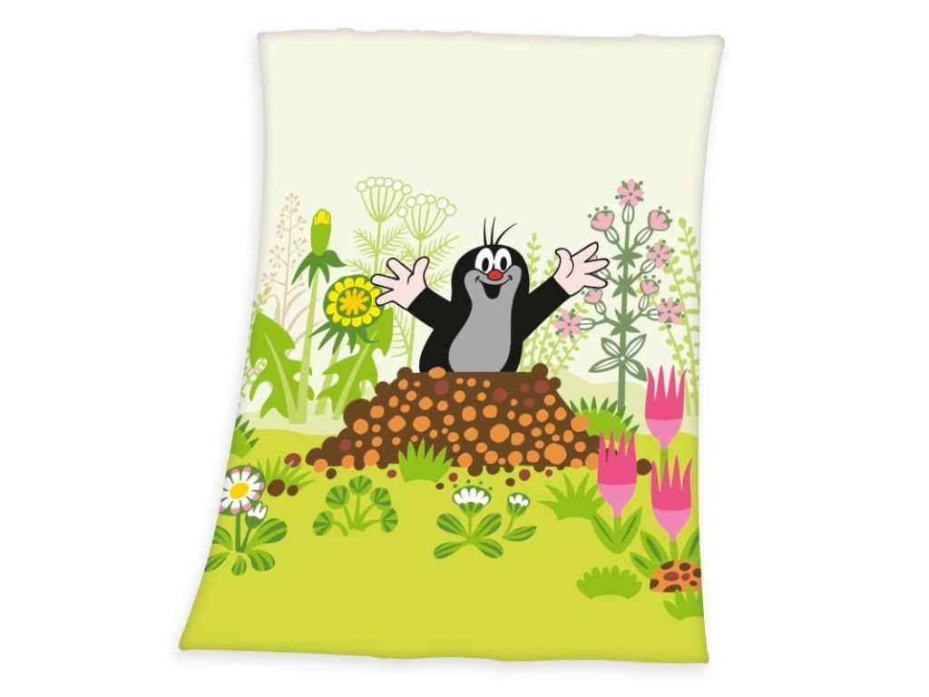 HERDING Soft fleece deka Krteček Polyester, 75/100 cm