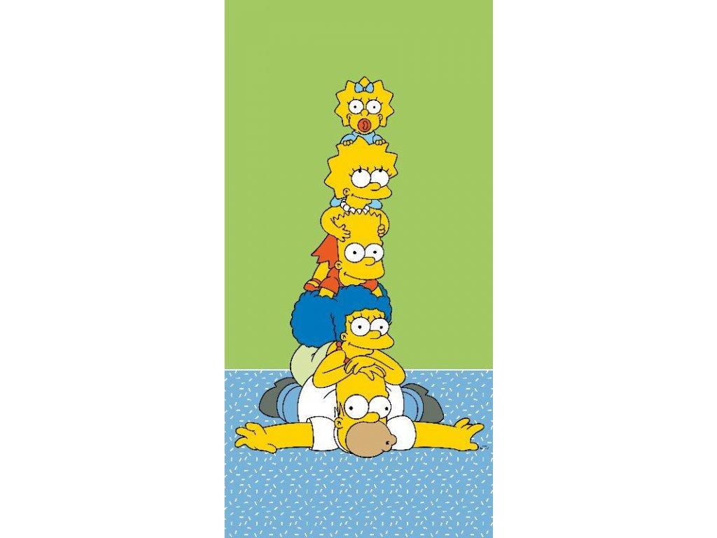 JERRY FABRICS Osuška Simpsons Family Tower Bavlna - Froté, 70/140 cm