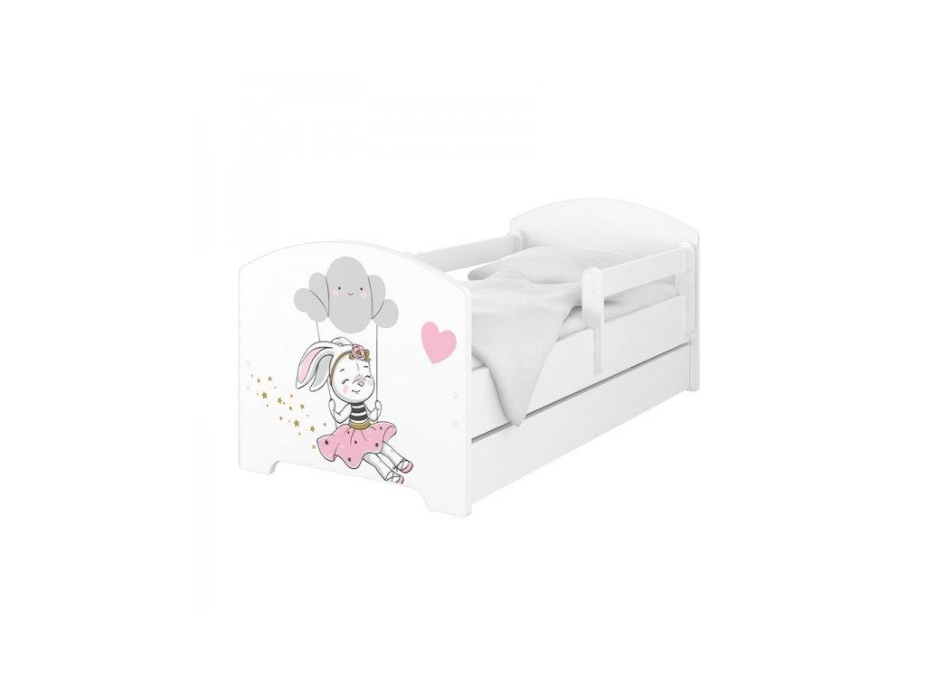 BabyBoo Dětská postel 140 x 70cm - Rabbit
