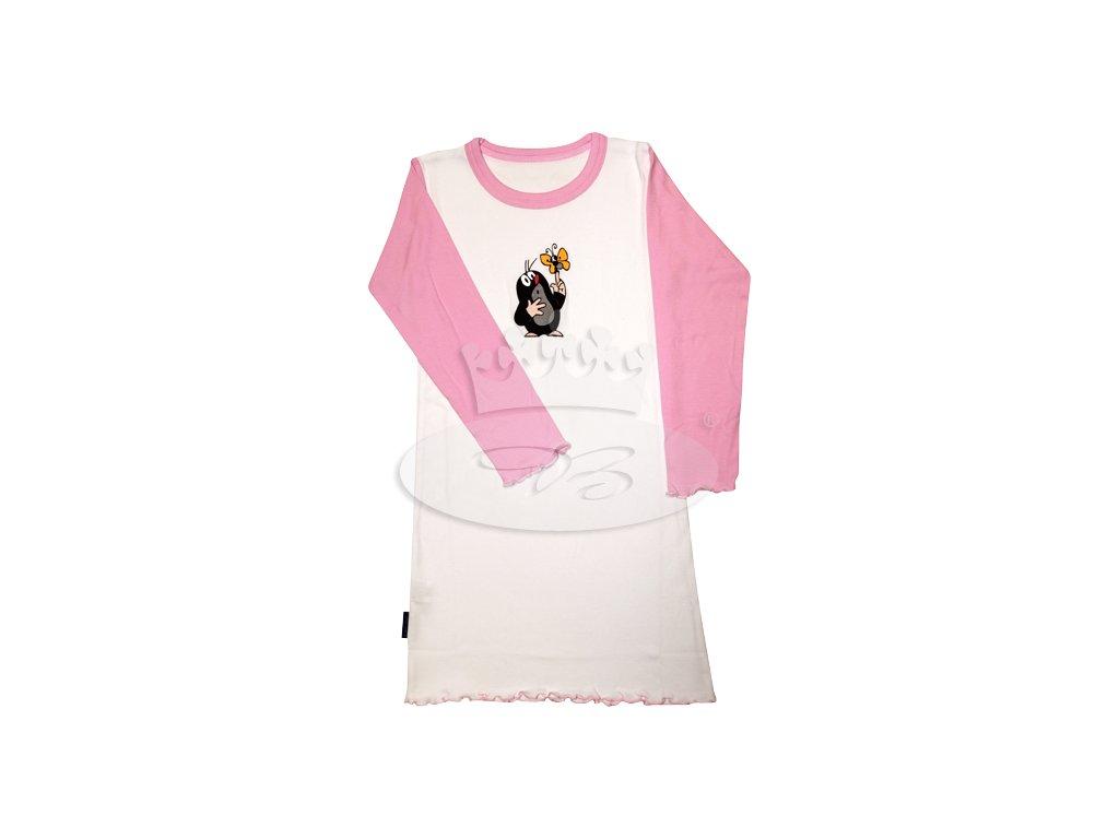 Dívčí noční košile dlouhý rukáv KRTEČEK 008 vzor G