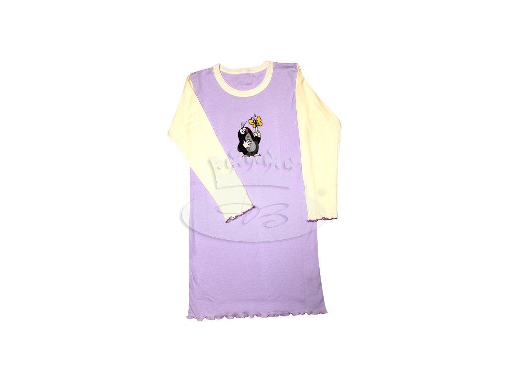 Dívčí noční košile dlouhý rukáv KRTEČEK 008 vzor F