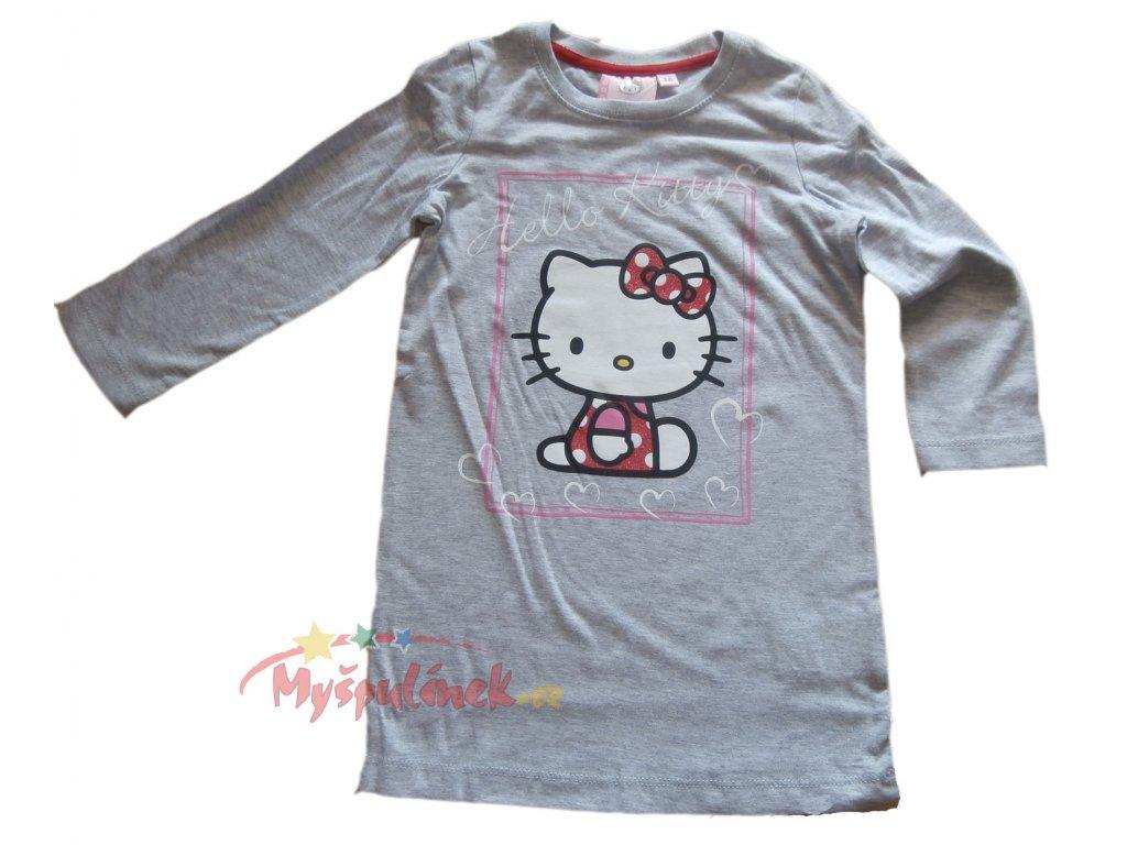 Tunika-Triko-Hello Kitty dlouhé šedá 2100