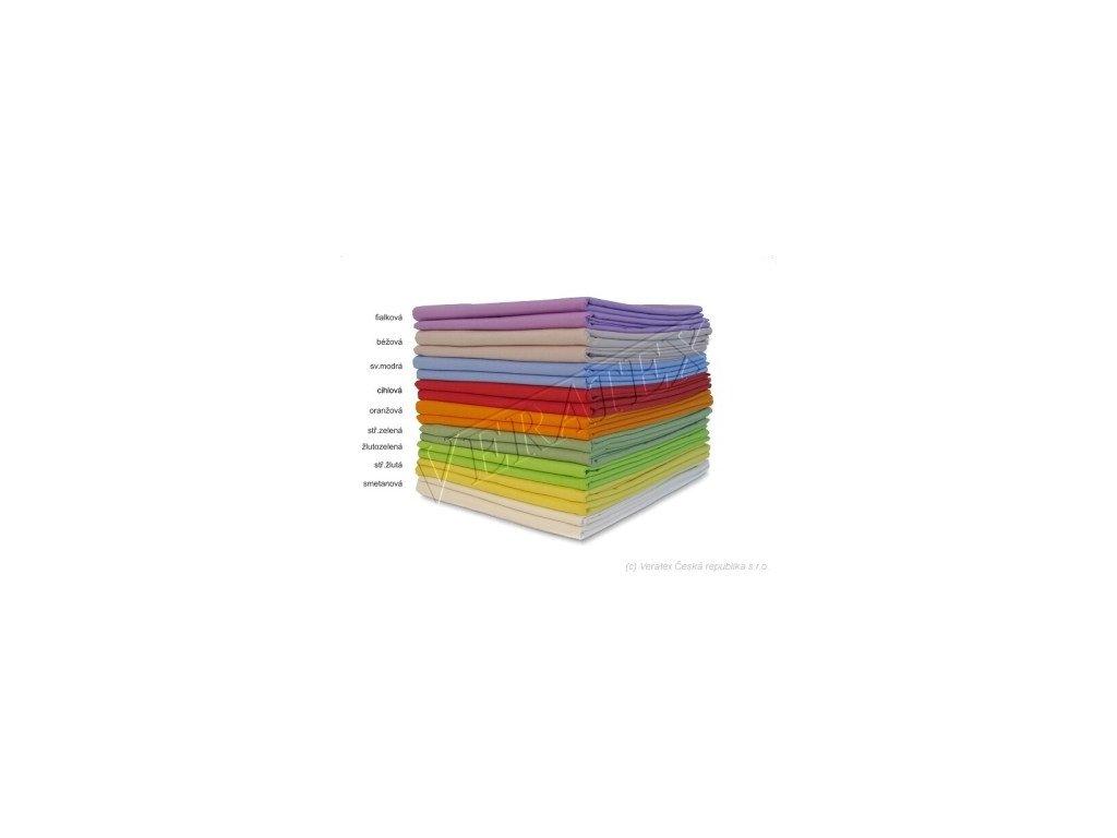 Bavlněné plátěné prostěradlo 1 Lůžko plachta 140x240 barevné Veratex