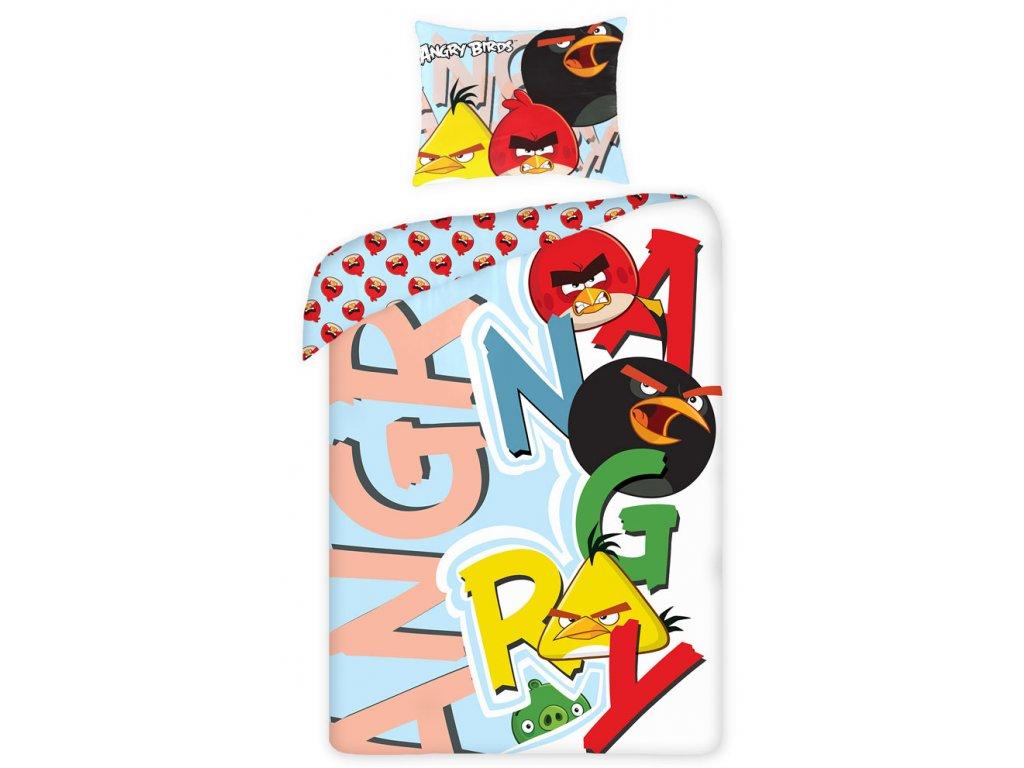 Povlečení Angry Birds písmena 140/200