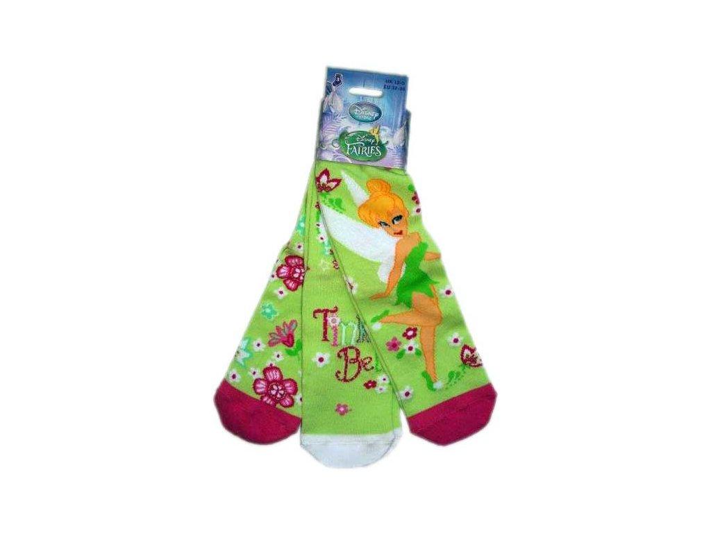 Ponožky Fairies tripack zelené