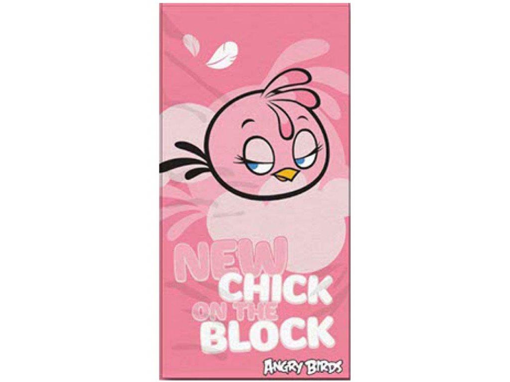 Osuška Angry Birds Stella růžová 70/140