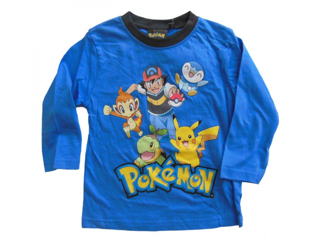 Triko Pokémon dlouhý rukáv modré 1744