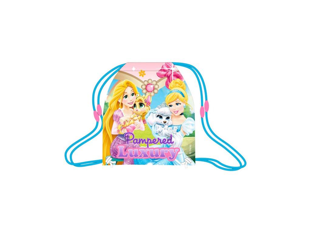 Taška na tělocvik a přezůvky Princezny a mazlíčci 41 cm