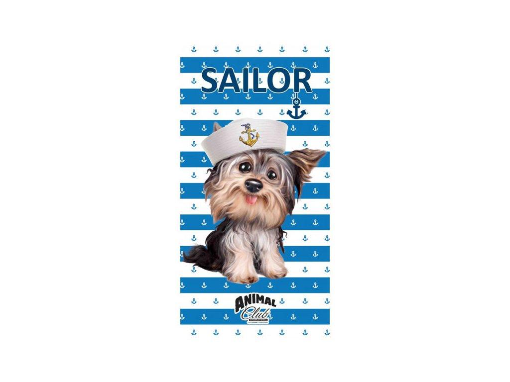 Osuška Jorkšír námořníkem