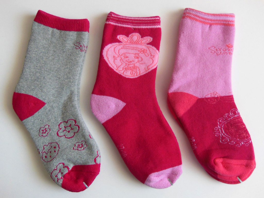 Teplé ponožky Jahůdka- Strawberry 953-144