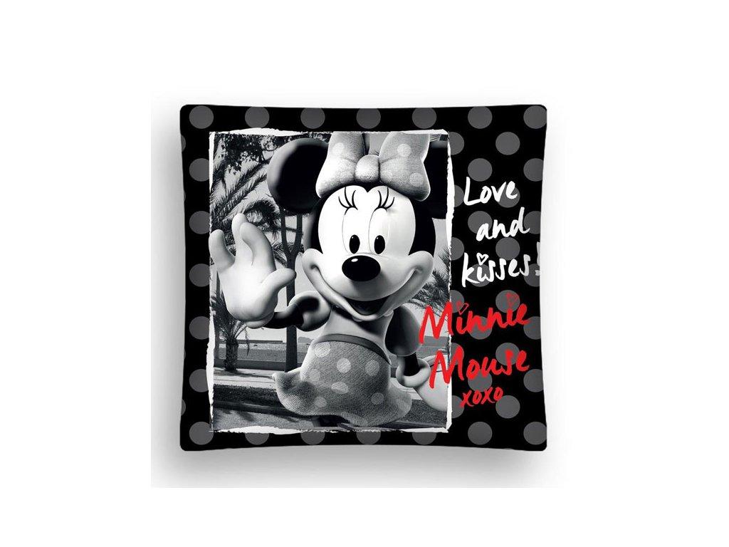 Povlak na polštářek Minnie black micro 40/40