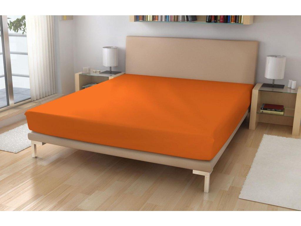 Jersey prostěradlo EXKLUSIVE Sytě oranžová 180/200