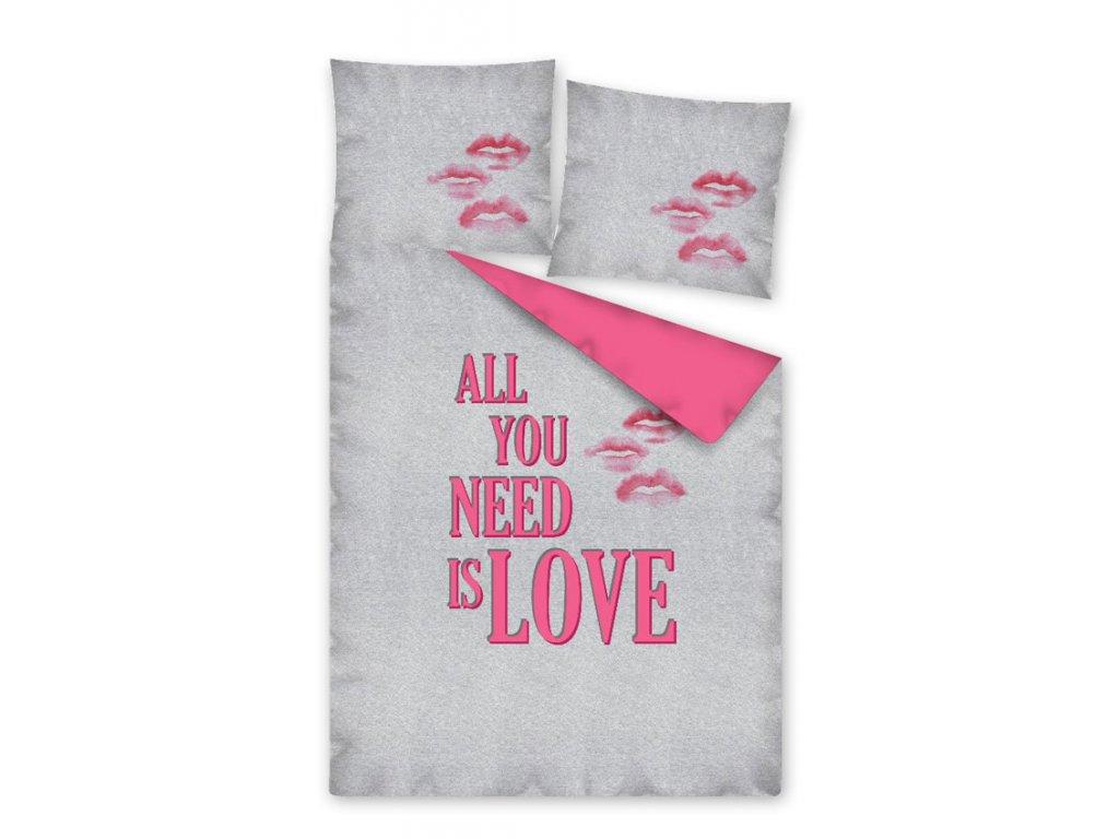 Povlečení All you need is LOVE 140/200, 70/80