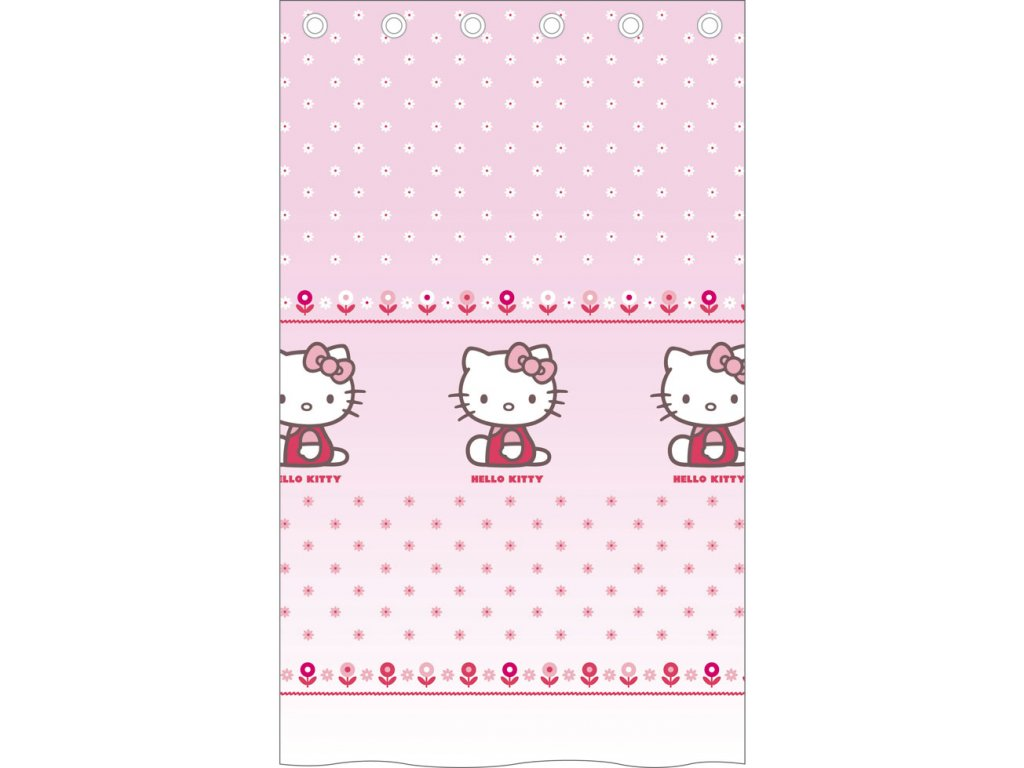 Záclona Hello Kitty Caroline 140/240 cm - skladem