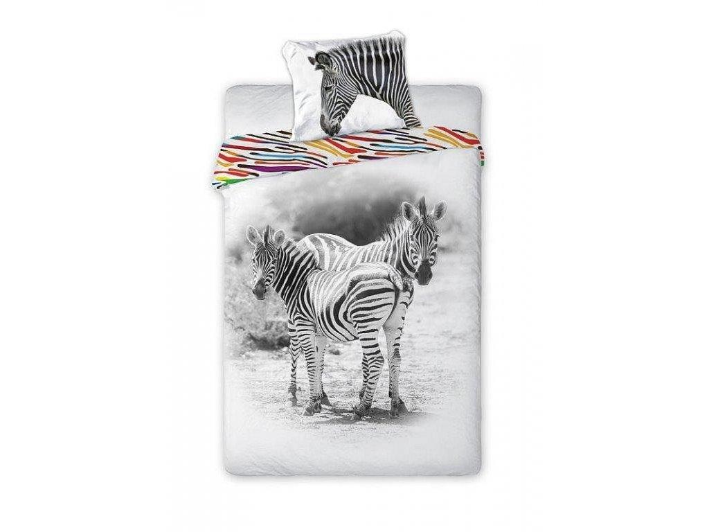 FARO Povlečení Zebra Bavlna, 140/200, 70/90 cm