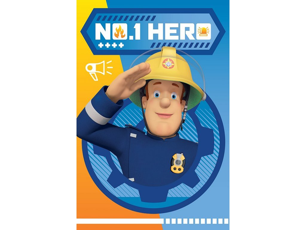 Fleece deka Požárník Sam Hero 100/150