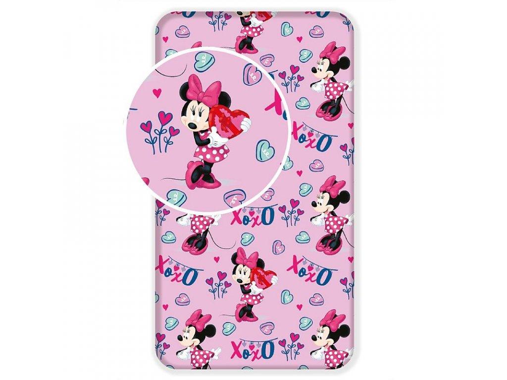 Prostěradlo Minnie pink 02 90/200