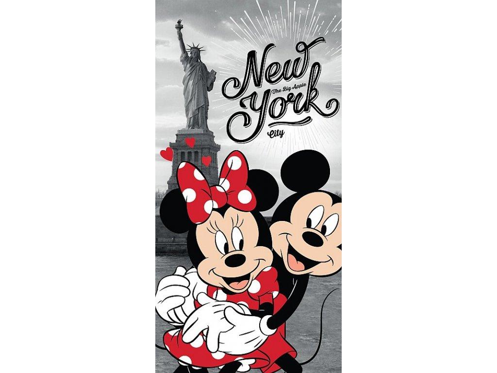Osuška Mickey a Minnie v New Yorku 70/140 - skladem