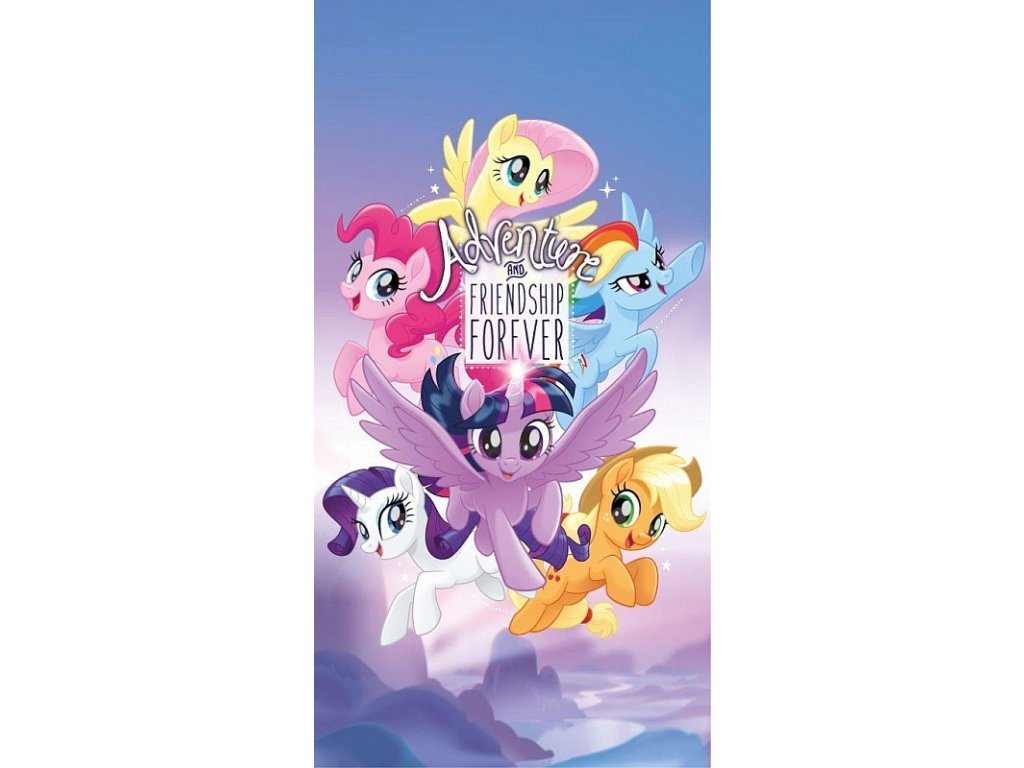 DETEXPOL Osuška My Little Pony Adventure Bavlna - Froté, 70/140 cm