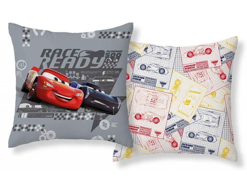 DETEXPOL Povlak na polštářek Cars Race Ready micro Polyester, 40/40 cm