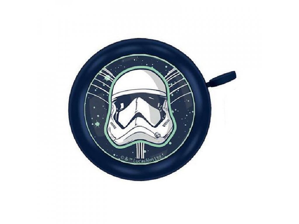 SEVEN Zvonek na kolo Star Wars Stormtrooper Kov, Plast, průměr 5 cm
