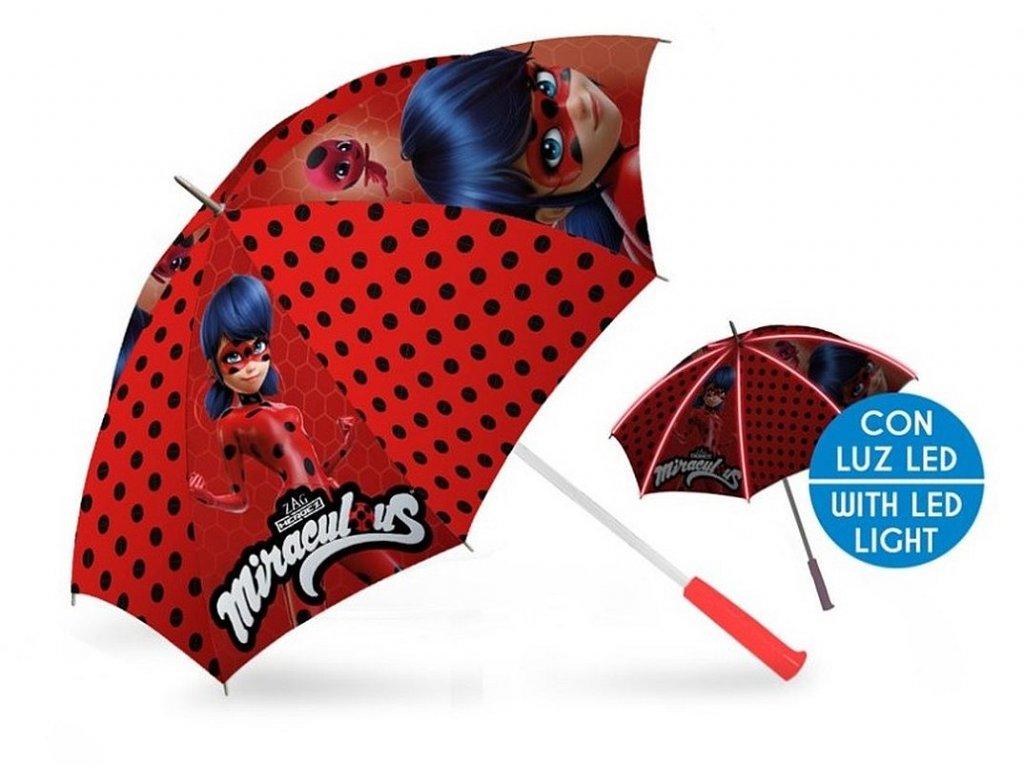 EUROSWAN Deštník s LED osvětlením Kouzelná Beruška Polyester, průměr 85 cm