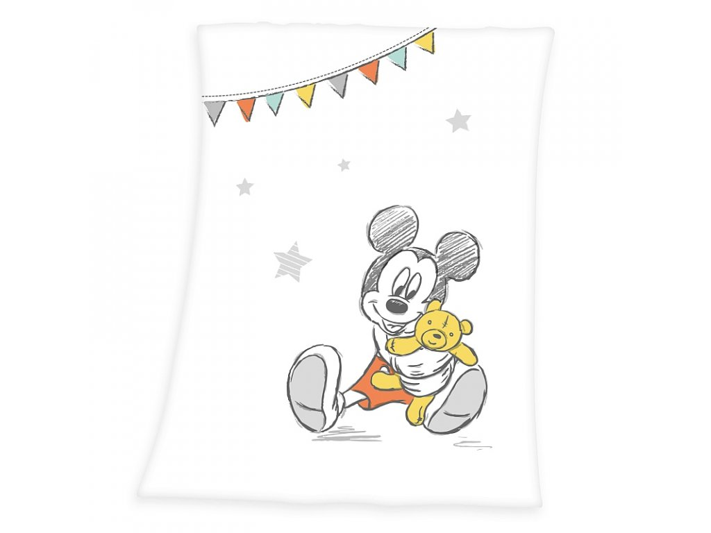 HERDING Soft fleece deka Mickey Polyester, 75/100 cm
