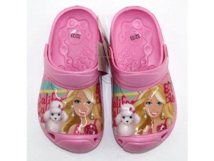 Dětské crocsy Barbie / kroksy Barbie světle růžové