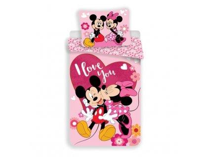 Povlečení Mickey a Minnie Kiss micro 140/200, 70/90