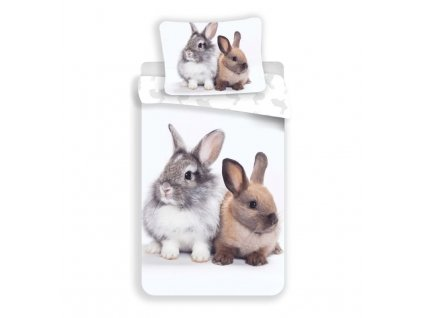 Povlečení Bunny Friends 140/200, 70/90