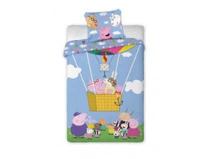 Povlečení Peppa Pig balón 140/200, 70/90