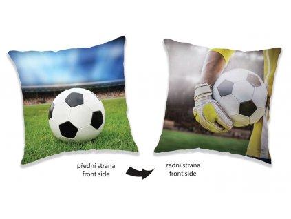 JERRY FABRICS Polštářek Fotbal Polyester, 40/40 cm
