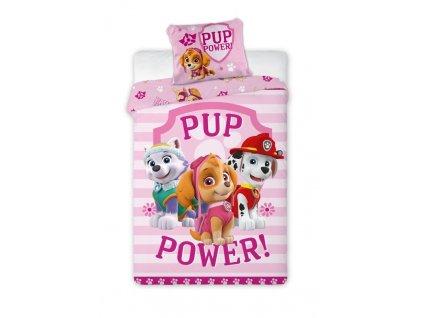 FARO Povlečení Paw Patrol Pup Power Bavlna, 140/200, 70/90 cm