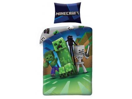 HALANTEX Povlečení Minecraft Monsters Bavlna, 140/200, 70/90 cm