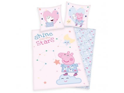 Povlečení Peppa Pig Stars 140/200, 70/90