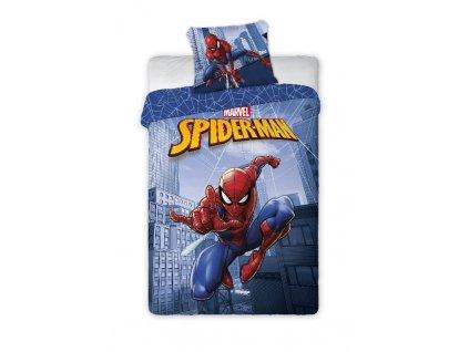 FARO Povlečení Spiderman city blue Bavlna, 140/200, 70/90 cm