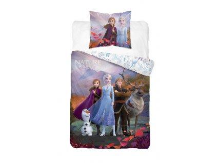 DETEXPOL Povlečení Ledové Království 2 Family Bavlna, 140/200, 70/80 cm