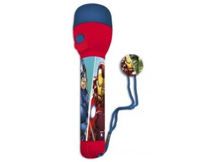 EUROSWAN Dětská LED svítilna, baterka Avengers PVC, LED, 1x16x4 cm