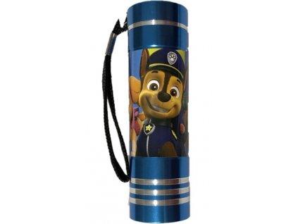 EUROSWAN Dětská hliníková LED baterka Paw Patrol tyrkysová Hliník, Plast, 9x2,5 cm