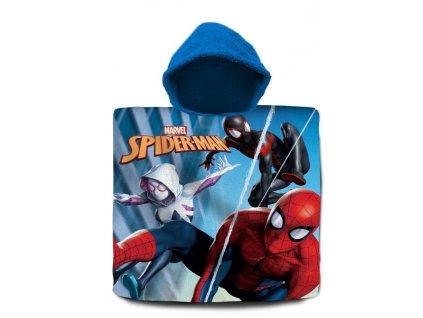 EUROSWAN Pončo Spiderman Paralelní světy Bavlna - Froté, 60/120 cm