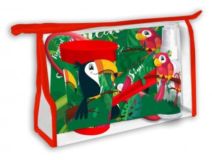 EUROSWAN Kosmetická taška vybavená Tukan Polyester, PVC, 23x15x8 cm