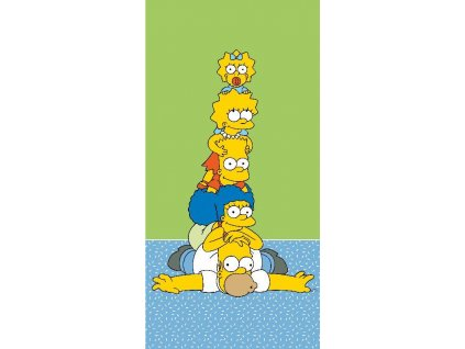 JERRY FABRICS Osuška Simpsons Family Tower Bavlna - Froté, 70/140 cm